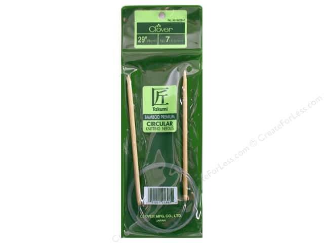 Clover Bamboo Circular Knitting Needle 29 in. Size 7 (4.5 mm)