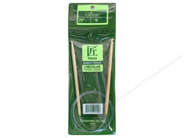 Clover Bamboo Circular Knitting Needle 29 in. Size 9 (5.5 mm)