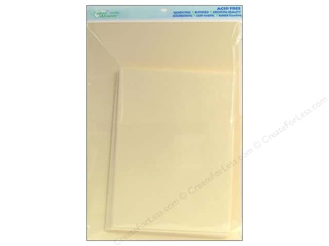 5 x 7 in. Blank Card & Envelopes by Paper Accents 10 pc. Ivory