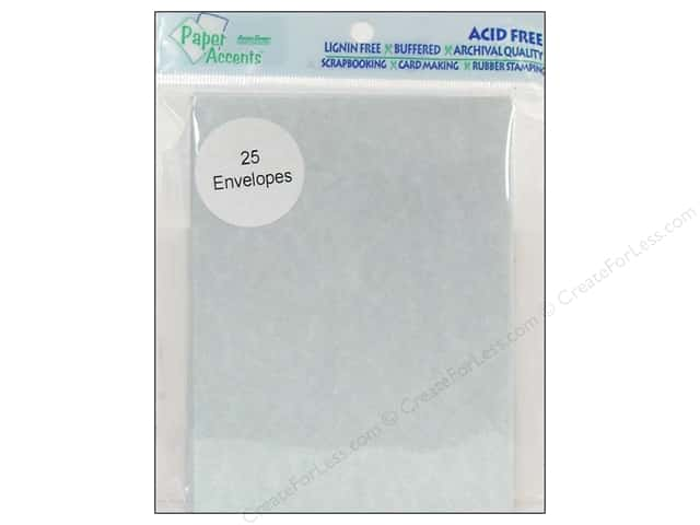 4 1/4 x 5 1/2 in. Envelopes by Paper Accents 25 pc. #208 Parchment Blue