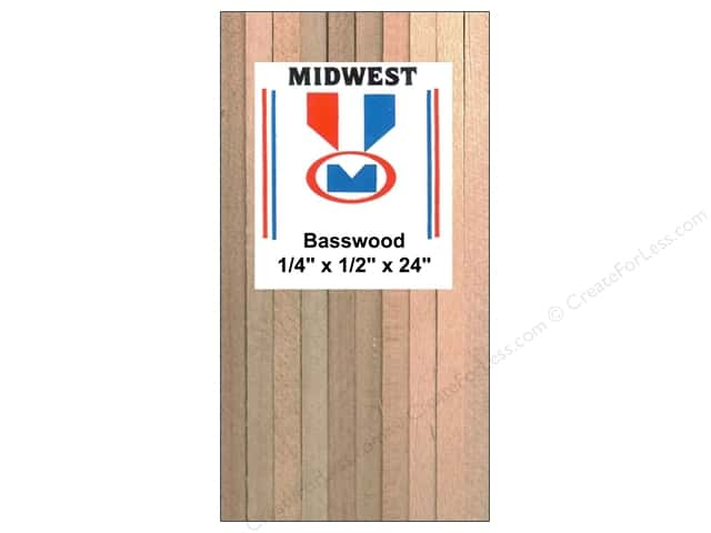 Midwest Basswood Strip 1/4 x 1/2 x 24 in. (12 pieces)