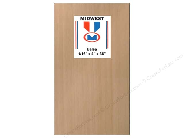 Midwest Balsa Wood Strips 1/16 x 4 x 36 in. (20 pieces)