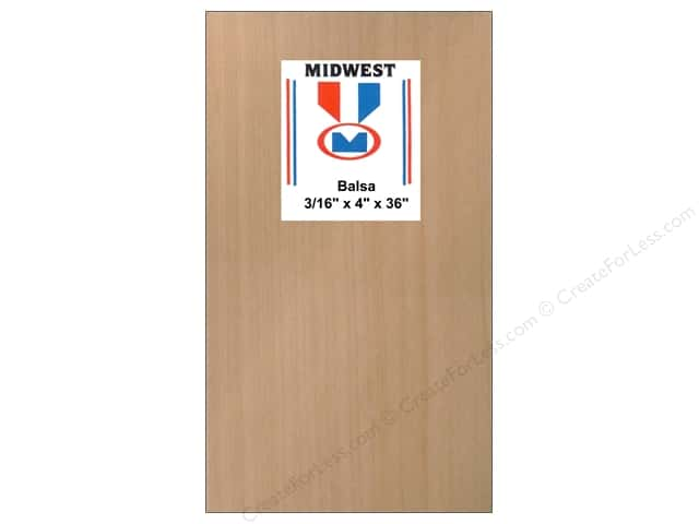 Midwest Balsa Wood Strips 3/16 x 4 x 36 in. (10 pieces)
