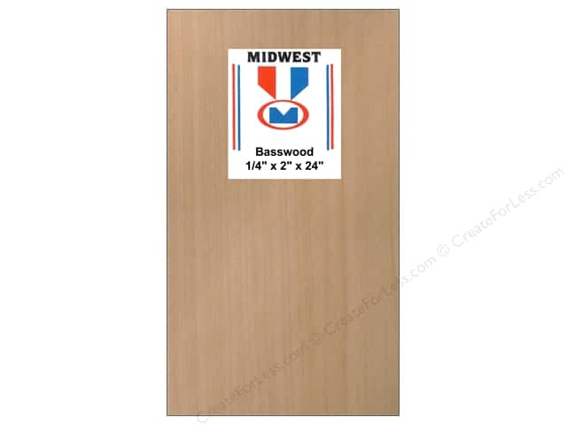 Midwest Basswood Sheet 1/4 x 2 x 24 in. (10 pieces)