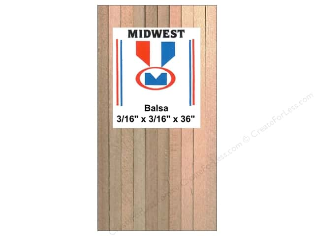 Midwest Balsa Wood Strips 3/16 x 3/16 x 36 in. (25 pieces)