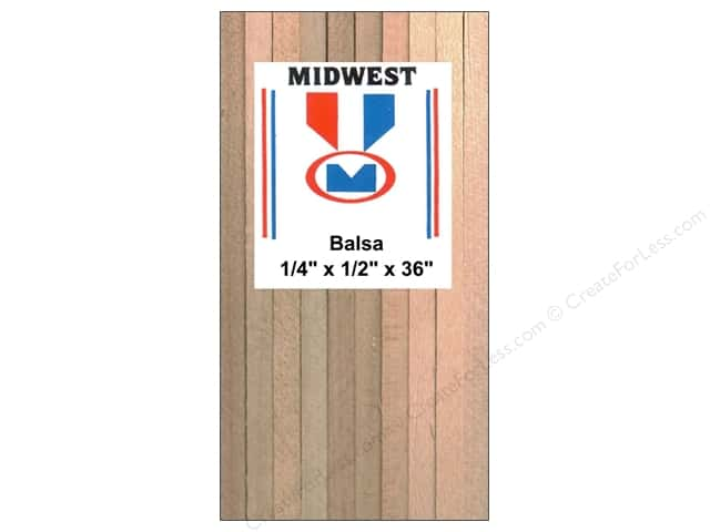 Midwest Balsa Wood Strips 1/4 x 1/2 x 36 in. (12 pieces)