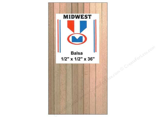 Midwest Balsa Wood Strips 1/2 x 1/2 x 36 in. (9 pieces)