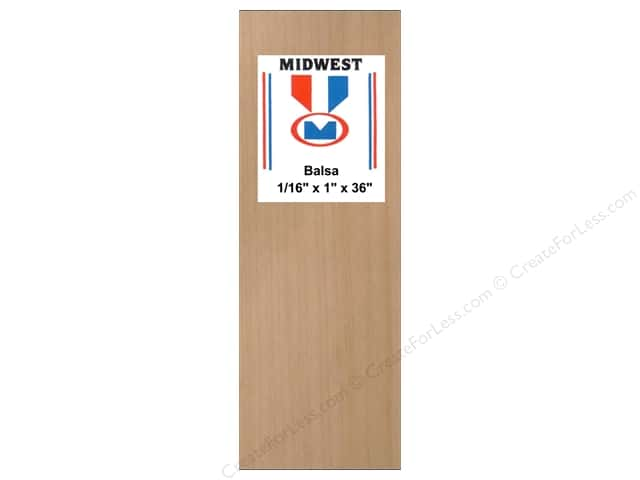 Midwest Balsa Wood Strips 1/16 x 1 x 36 in.