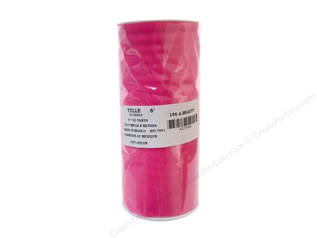 Offray Tulle 6 in. x  25 yd. Hot Pink (25 yards)