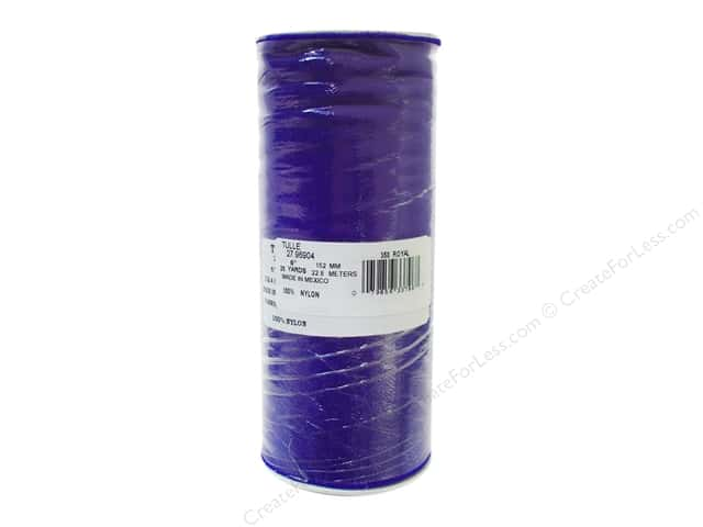 Offray Tulle 6 in. x  25 yd. Royal Blue (25 yards)