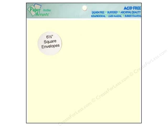 6 1/2 x 6 1/2 in. Envelopes by Paper Accents 12 pc. #119 Cream