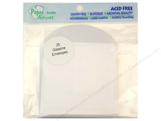 Paper Accents Glassine Envelope 3 1/2 x 3 1/2 in. 25 pc.