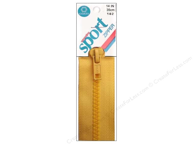 Separating Sport Zipper by Coats & Clark 14 in. Spark Gold