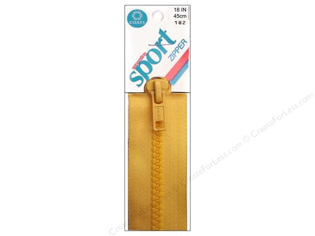 Separating Sport Zipper by Coats & Clark 18 in. Spark Gold