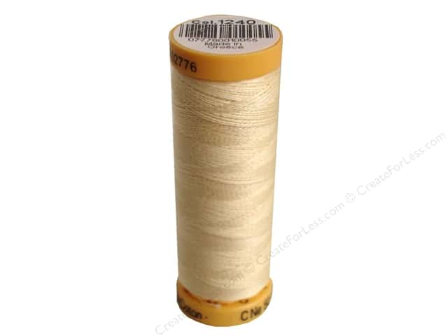 Gutermann 100% Natural Cotton Sewing Thread 109 yd. #1240 Dark Ecru