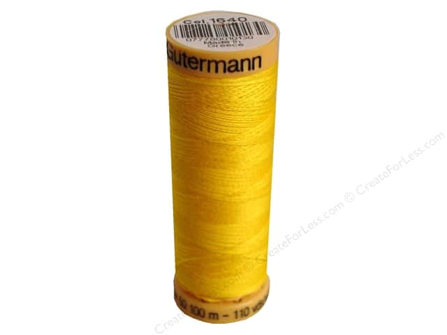 Gutermann 100% Natural Cotton Sewing Thread 109 yd. #1640 Bright Yellow