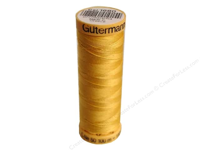 Gutermann 100% Natural Cotton Sewing Thread 109 yd. #1680 Saffron