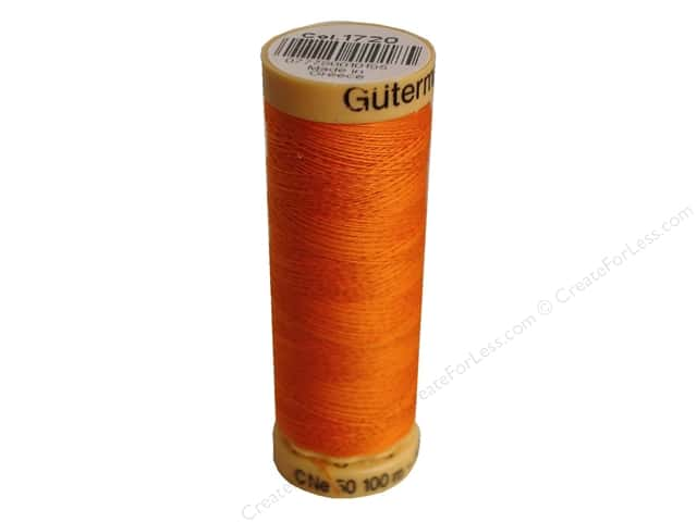 Gutermann 100% Natural Cotton Sewing Thread 109 yd. #1720 Orange