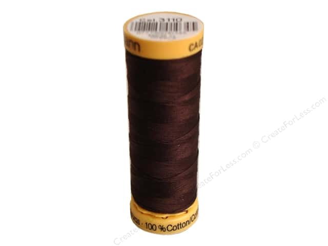 Gutermann 100% Natural Cotton Sewing Thread 109 yd. #3110 Dark Brown