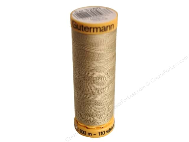 Gutermann 100% Natural Cotton Sewing Thread 109 yd. #3260 Beige
