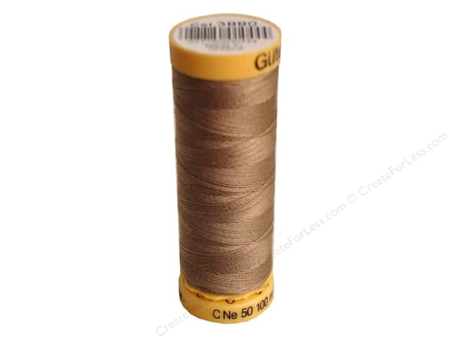 Gutermann 100% Natural Cotton Sewing Thread 109 yd. #3880 Light Brown