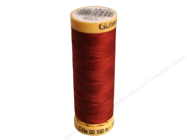 Gutermann 100% Natural Cotton Sewing Thread 109 yd. #4820 Rust Red