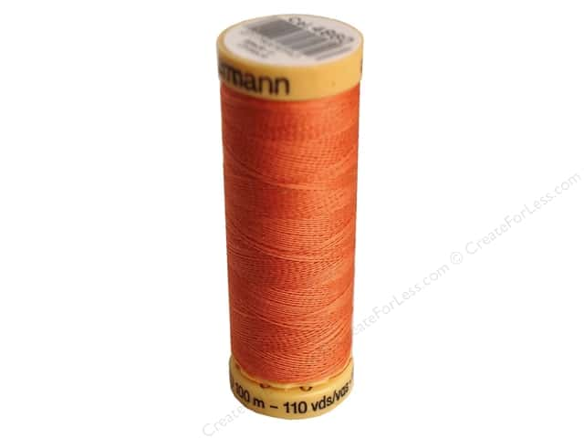 Gutermann 100% Natural Cotton Sewing Thread 109 yd. #4860 Coral Rust