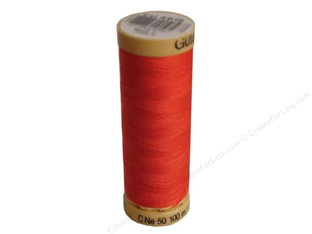 Gutermann 100% Natural Cotton Sewing Thread 109 yd. #4915 Light Red