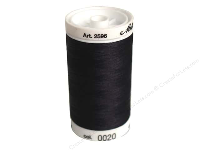 Mettler PolySheen Embroidery Thread 875 yd. #20 Black