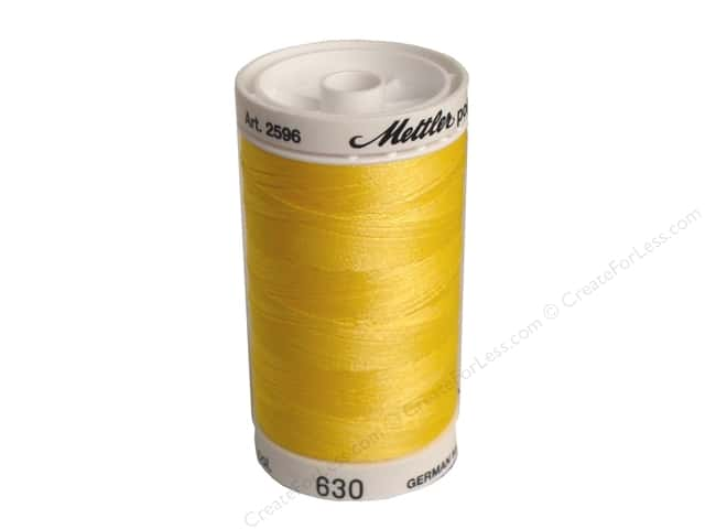Mettler PolySheen Embroidery Thread 875 yd. #630 Buttercup