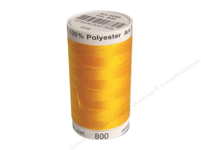 Mettler PolySheen Embroidery Thread 875 yd. #800 Goldenrod