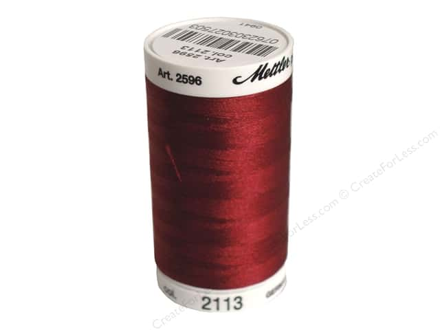 Mettler PolySheen Embroidery Thread 875 yd. #2113 Cranberry