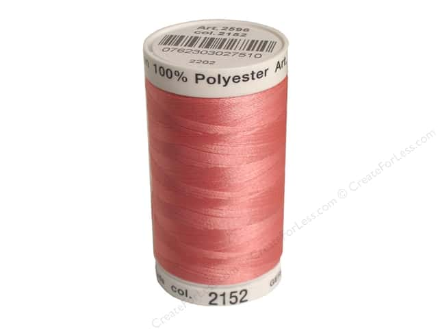 Mettler PolySheen Embroidery Thread 875 yd. #2152 Heather Pink