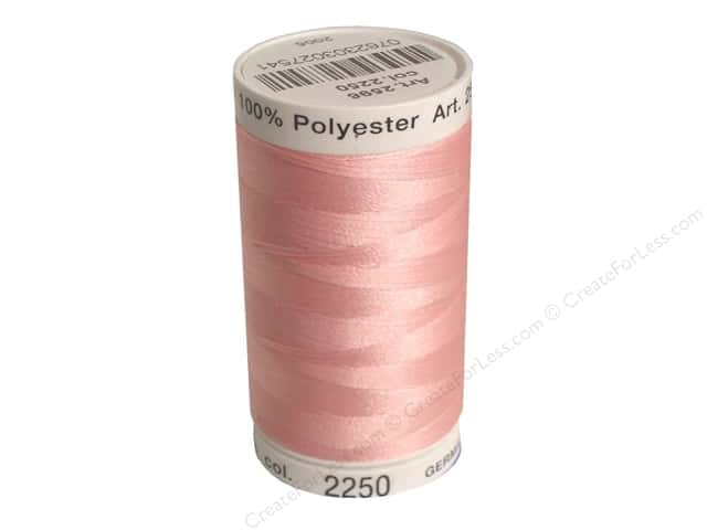 Mettler PolySheen Embroidery Thread 875 yd. #2250 Petal Pink