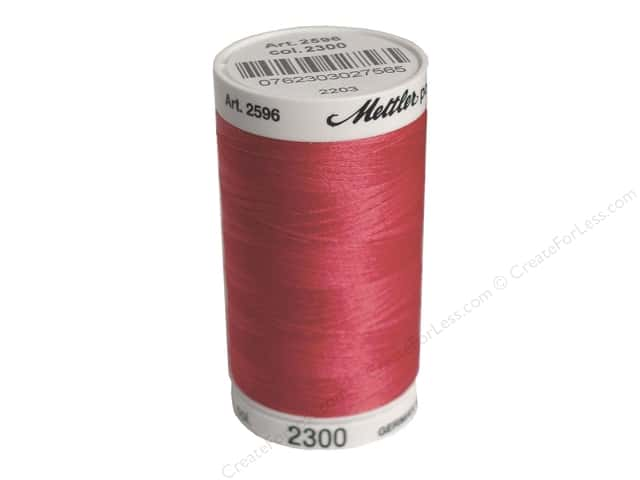 Mettler PolySheen Embroidery Thread 875 yd. #2300 Bright Ruby