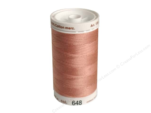 Mettler Silk Finish Cotton Thread 40 wt. 500 yd. #0637 Antique Pink