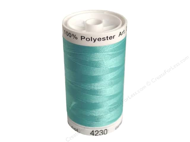 Mettler PolySheen Embroidery Thread 875 yd. #4230 Aqua