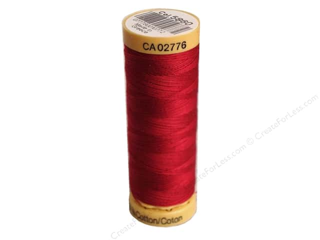 Gutermann 100% Natural Cotton Sewing Thread 109 yd. #5860 Cranberry