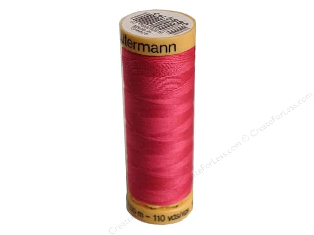 Gutermann 100% Natural Cotton Sewing Thread 109 yd. #5980 Fuchsia