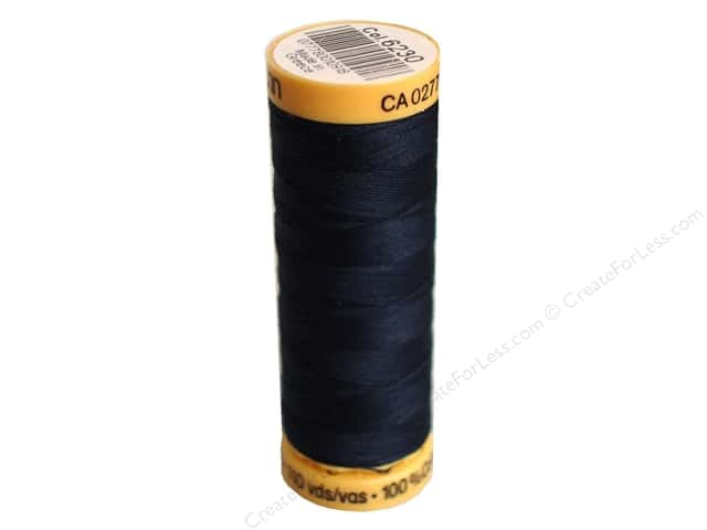 Gutermann 100% Natural Cotton Sewing Thread 109 yd. #6230 Dark Midnite