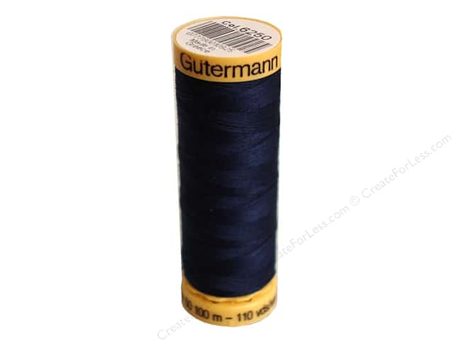 Gutermann 100% Natural Cotton Sewing Thread 109 yd. #6250 Dark Navy