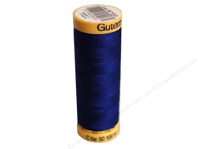 Gutermann 100% Natural Cotton Sewing Thread 109 yd. #6700 Blue Chip