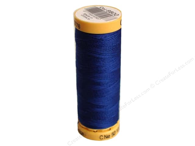 Gutermann 100% Natural Cotton Sewing Thread 109 yd. #6800 Royal