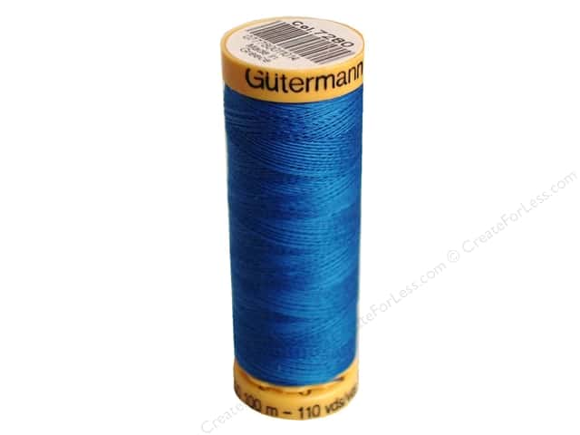 Gutermann 100% Natural Cotton Sewing Thread 109 yd. #7280 Medium Blue