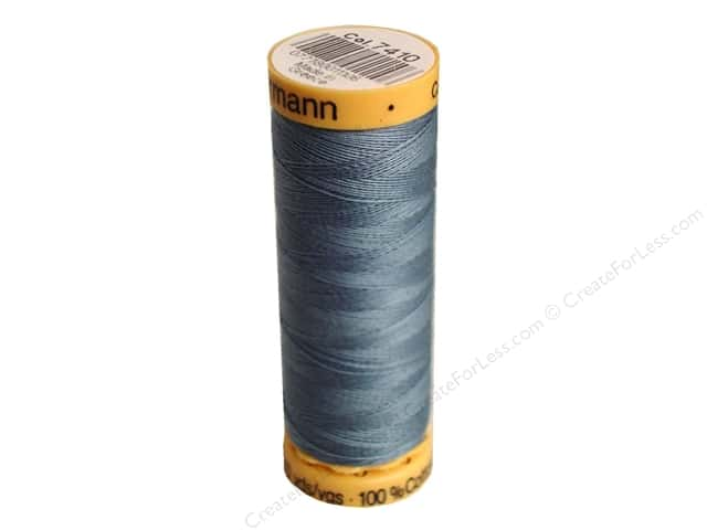 Gutermann 100% Natural Cotton Sewing Thread 109 yd. #7410 Grey Blue