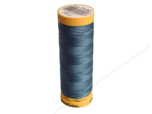 Gutermann 100% Natural Cotton Sewing Thread 109 yd. #7430 Dark Grey Blue