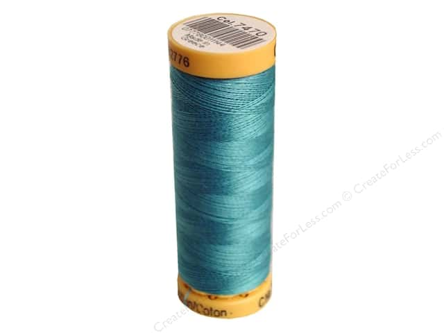 Gutermann 100% Natural Cotton Sewing Thread 109 yd. #7470 Blue Aqua