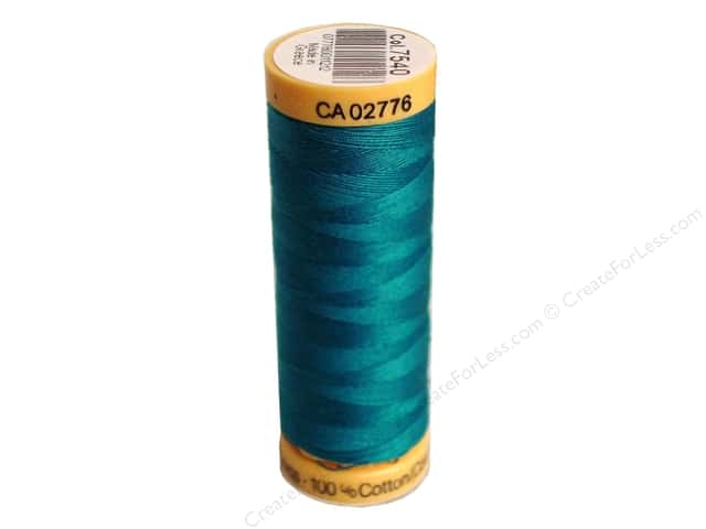 Gutermann 100% Natural Cotton Sewing Thread 109 yd. #7540 Dark Turquoise