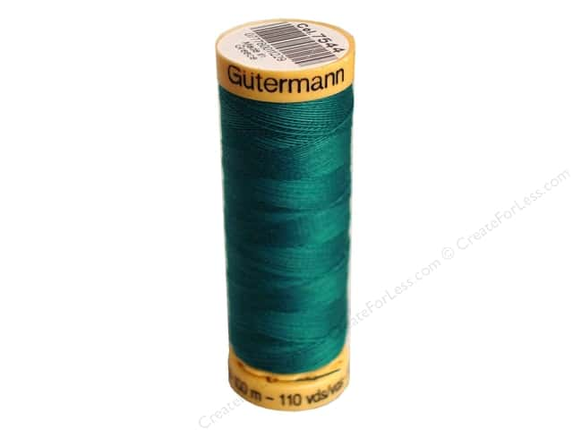 Gutermann 100% Natural Cotton Sewing Thread 109 yd. #7544 Very Dark Turquoise