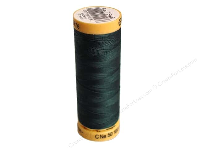 Gutermann 100% Natural Cotton Sewing Thread 109 yd. #7548 Black Teal